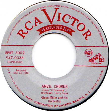 Note that this 45 reissue correctly credits Jerry Gray as the arranger.