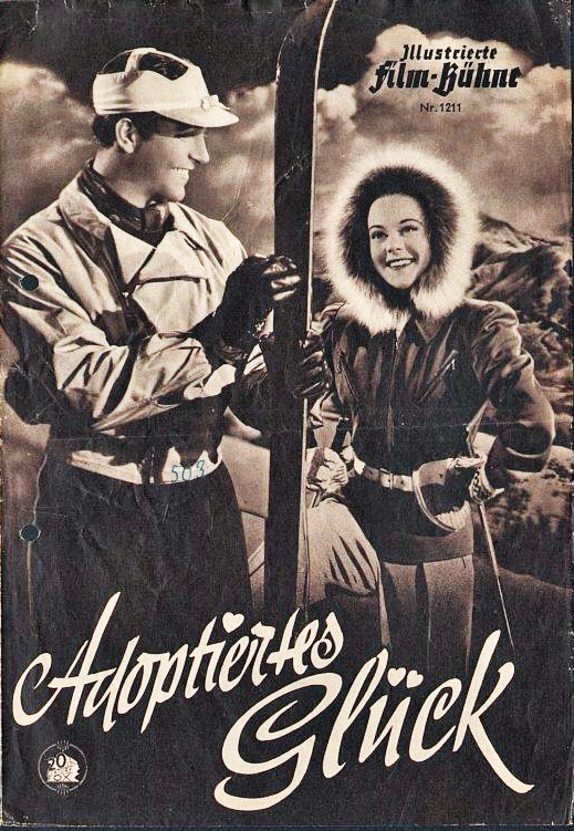 Promotional flyer for the postwar German release of SUN VALLEY SERENADE.