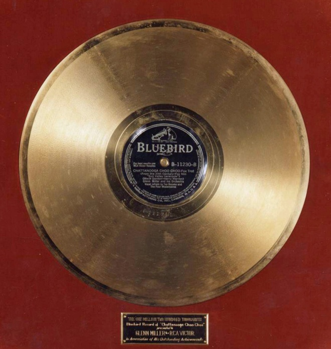 Glenn's Gold Record for CHATTANOOGA CHOO CHOO.