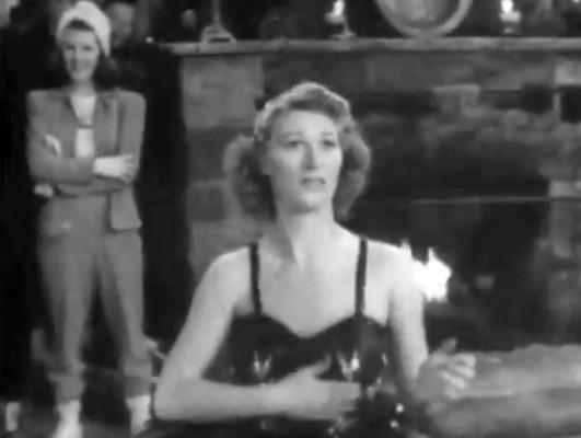 Joan Davis in the cut number, I'M LENA THE BALLERINA.