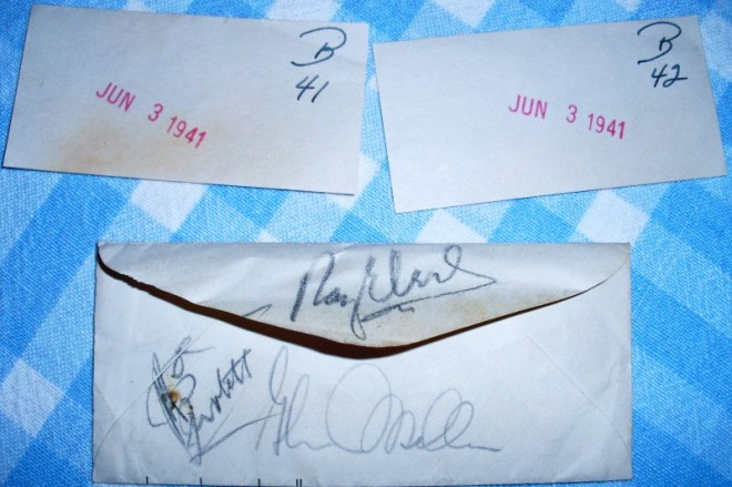 Tickets & autographs from the Miller band's appearance at the Pacific Square Ballroom in San Diego