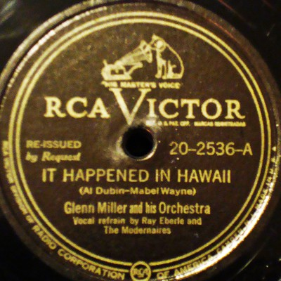 1947 reissue label of IT HAPPENED IN HAWAII.