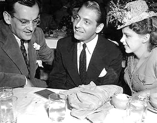 Glenn with newlyweds David Rose & Judy Garland - Hollywood Palladium, 1941