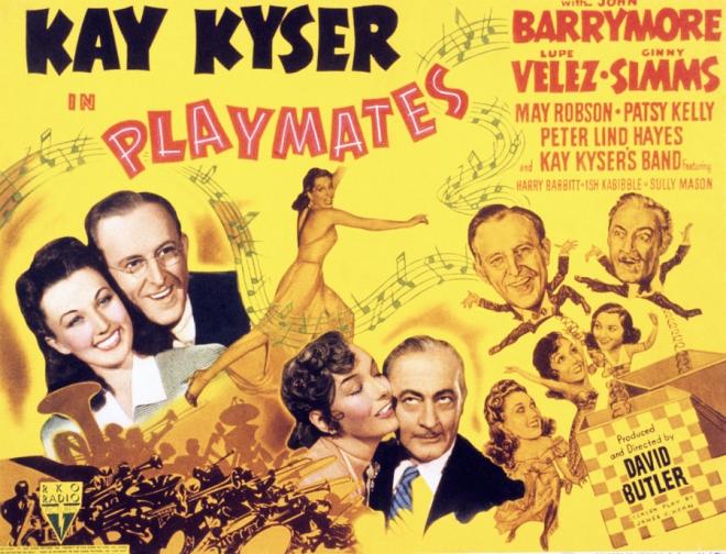 gm playmates-john-barrymore-kay-kyser-everett
