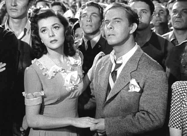 Ann Rutherford is hooked, Harry Morgan is skeptical.