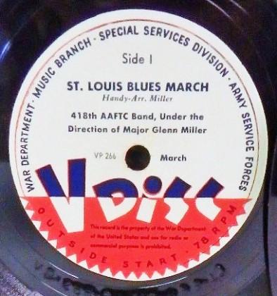 Special V-Disc pressing