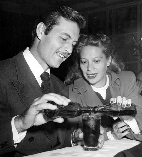 Dinah with husband George Montgomery, who had appeared with Glenn in ORCHESTRA WIVES